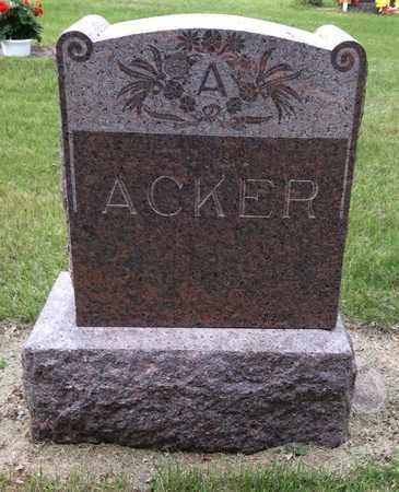 ACKER, FAMILY STONE - Clark County, South Dakota   FAMILY STONE ACKER - South Dakota Gravestone Photos