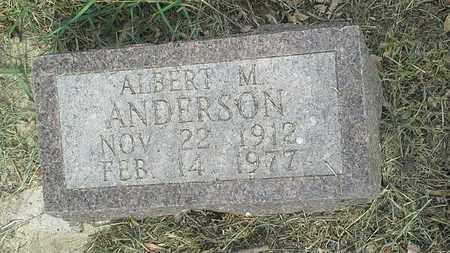 ANDERSON, ALBERT M - Clark County, South Dakota   ALBERT M ANDERSON - South Dakota Gravestone Photos