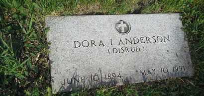 ANDERSON, DORA I - Clark County, South Dakota | DORA I ANDERSON - South Dakota Gravestone Photos