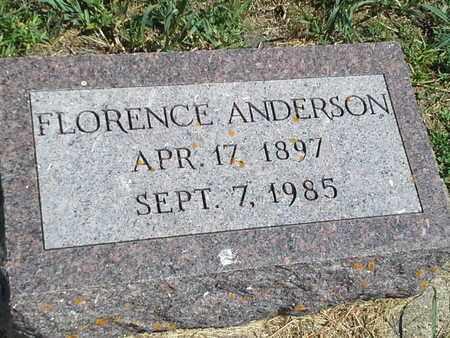 ANDERSON, FLORENCE - Clark County, South Dakota | FLORENCE ANDERSON - South Dakota Gravestone Photos