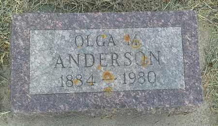 ANDERSON, OLGA M - Clark County, South Dakota | OLGA M ANDERSON - South Dakota Gravestone Photos