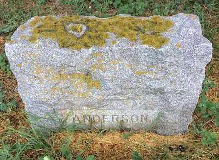 ANDERSON, UNKNOWN - Clark County, South Dakota   UNKNOWN ANDERSON - South Dakota Gravestone Photos