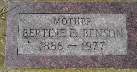 BENSON, BERTINE E. - Clark County, South Dakota | BERTINE E. BENSON - South Dakota Gravestone Photos