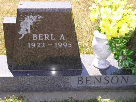 BENSON, BERL A. - Clark County, South Dakota   BERL A. BENSON - South Dakota Gravestone Photos