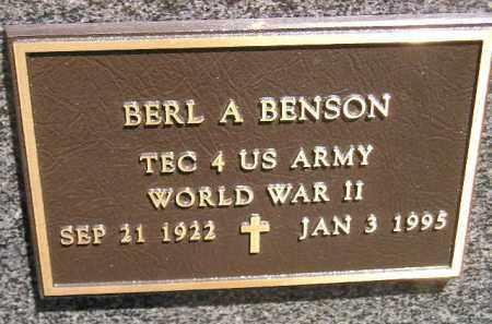 BENSON, BERL A. (WW II) - Clark County, South Dakota   BERL A. (WW II) BENSON - South Dakota Gravestone Photos