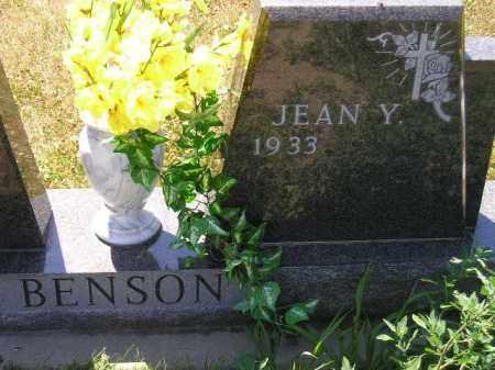 BENSON, JEAN Y. - Clark County, South Dakota   JEAN Y. BENSON - South Dakota Gravestone Photos