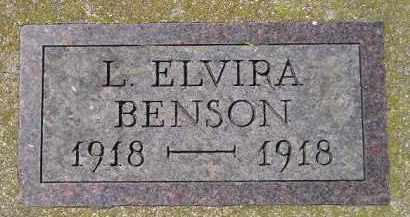 BENSON, L. ELVIRA - Clark County, South Dakota   L. ELVIRA BENSON - South Dakota Gravestone Photos