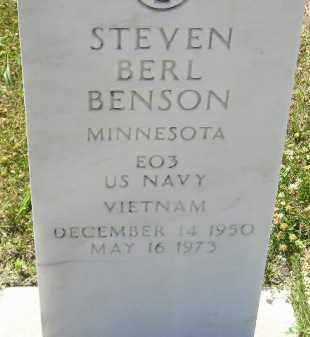 BENSON, STEVEN BERL (MILITARY) - Clark County, South Dakota   STEVEN BERL (MILITARY) BENSON - South Dakota Gravestone Photos