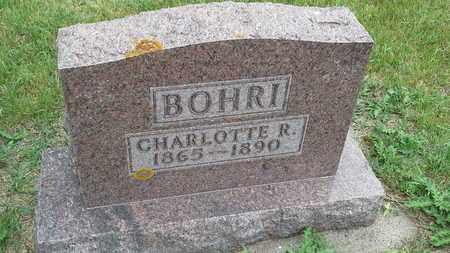BOHRI, CHARLOTTE R - Clark County, South Dakota | CHARLOTTE R BOHRI - South Dakota Gravestone Photos