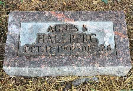 HALLBERG, AGNES S. - Clark County, South Dakota | AGNES S. HALLBERG - South Dakota Gravestone Photos