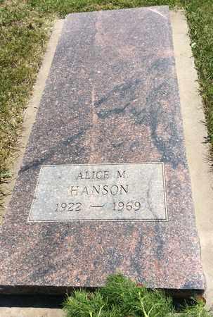HANSON, ALICE M. - Clark County, South Dakota | ALICE M. HANSON - South Dakota Gravestone Photos
