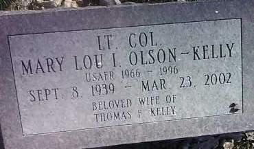 OLSON KELLY, MARY LOU I. - Clark County, South Dakota   MARY LOU I. OLSON KELLY - South Dakota Gravestone Photos