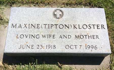 KLOSTER, MAXINE - Clark County, South Dakota | MAXINE KLOSTER - South Dakota Gravestone Photos