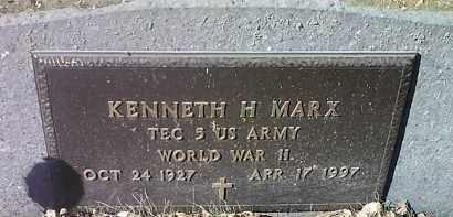 MARX, KENNETH H. MILITARY - Clark County, South Dakota | KENNETH H. MILITARY MARX - South Dakota Gravestone Photos