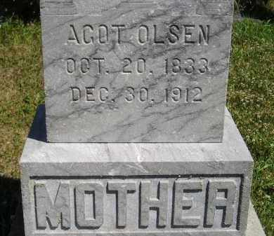 OLSEN, AGOT - Clark County, South Dakota | AGOT OLSEN - South Dakota Gravestone Photos