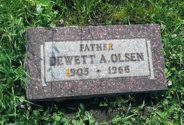 OLSEN, DEWETT A - Clark County, South Dakota | DEWETT A OLSEN - South Dakota Gravestone Photos