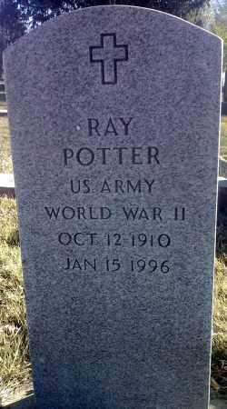 POTTER, RAY MILITARY - Clark County, South Dakota   RAY MILITARY POTTER - South Dakota Gravestone Photos