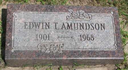 AMUNDSON, EDWIN T. - Clay County, South Dakota | EDWIN T. AMUNDSON - South Dakota Gravestone Photos