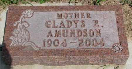 AMUNDSON, GLADYS E. - Clay County, South Dakota   GLADYS E. AMUNDSON - South Dakota Gravestone Photos