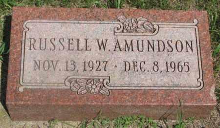 AMUNDSON, RUSSELL W. - Clay County, South Dakota   RUSSELL W. AMUNDSON - South Dakota Gravestone Photos