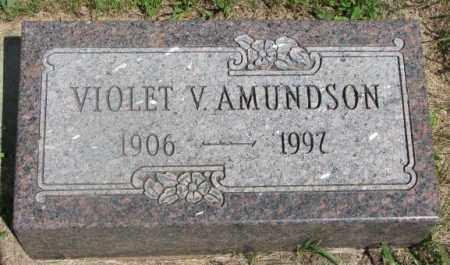 AMUNDSON, VIOLET V. - Clay County, South Dakota | VIOLET V. AMUNDSON - South Dakota Gravestone Photos