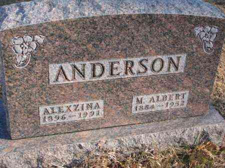 ANDERSON, ALEXZINA - Clay County, South Dakota | ALEXZINA ANDERSON - South Dakota Gravestone Photos
