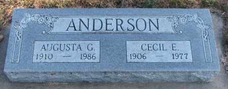 ANDERSON, AUGUSTA G. - Clay County, South Dakota | AUGUSTA G. ANDERSON - South Dakota Gravestone Photos