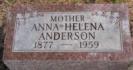 ANDERSON, ANNA HELENA - Clay County, South Dakota   ANNA HELENA ANDERSON - South Dakota Gravestone Photos