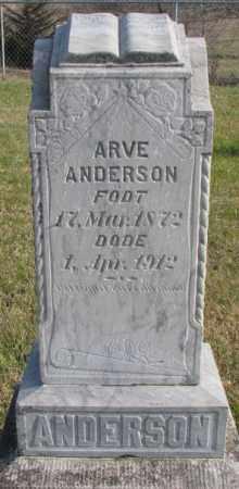 ANDERSON, ARVE - Clay County, South Dakota | ARVE ANDERSON - South Dakota Gravestone Photos