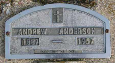 ANDERSON, ANDREW - Clay County, South Dakota | ANDREW ANDERSON - South Dakota Gravestone Photos