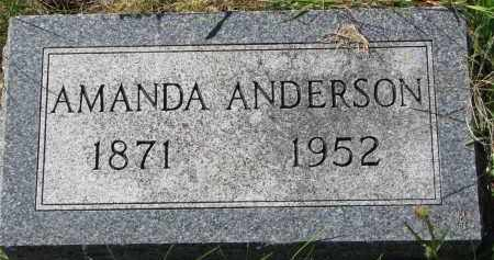 ANDERSON, AMANDA - Clay County, South Dakota | AMANDA ANDERSON - South Dakota Gravestone Photos