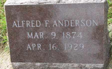 ANDERSON, ALFRED F. - Clay County, South Dakota | ALFRED F. ANDERSON - South Dakota Gravestone Photos