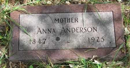 ANDERSON, ANNA - Clay County, South Dakota   ANNA ANDERSON - South Dakota Gravestone Photos
