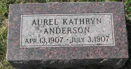 ANDERSON, AUREL KATHRYN - Clay County, South Dakota | AUREL KATHRYN ANDERSON - South Dakota Gravestone Photos