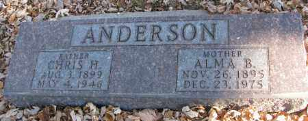 ANDERSON, CHRIS H. - Clay County, South Dakota | CHRIS H. ANDERSON - South Dakota Gravestone Photos