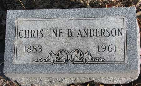 ANDERSON, CHRISTINE B. - Clay County, South Dakota | CHRISTINE B. ANDERSON - South Dakota Gravestone Photos