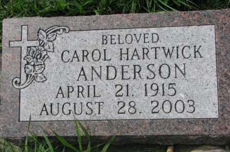 ANDERSON, CAROL - Clay County, South Dakota | CAROL ANDERSON - South Dakota Gravestone Photos