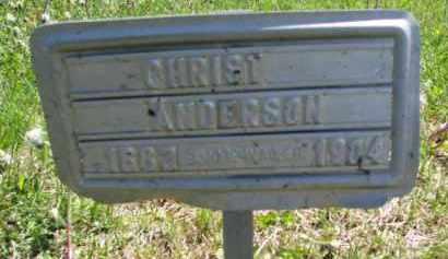 ANDERSON, CHRIST - Clay County, South Dakota   CHRIST ANDERSON - South Dakota Gravestone Photos