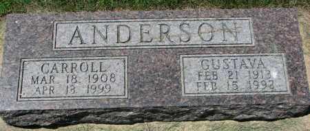 ANDERSON, CARROLL - Clay County, South Dakota | CARROLL ANDERSON - South Dakota Gravestone Photos