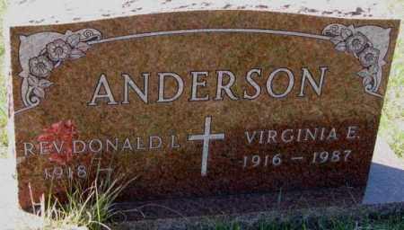ANDERSON, VIRGINIA E. - Clay County, South Dakota | VIRGINIA E. ANDERSON - South Dakota Gravestone Photos