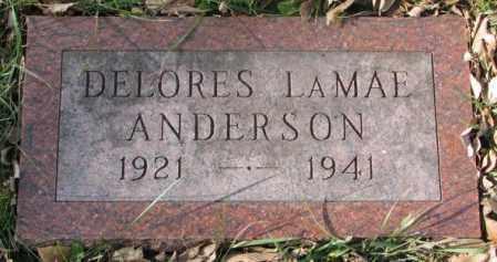 ANDERSON, DELORES LAMAE - Clay County, South Dakota | DELORES LAMAE ANDERSON - South Dakota Gravestone Photos