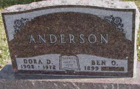ANDERSON, BEN O. - Clay County, South Dakota | BEN O. ANDERSON - South Dakota Gravestone Photos