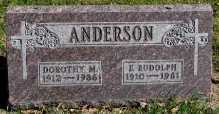 ANDERSON, FRANCIS RUDOLPH - Clay County, South Dakota | FRANCIS RUDOLPH ANDERSON - South Dakota Gravestone Photos