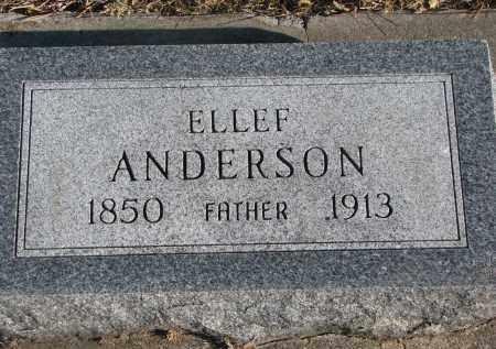 ANDERSON, ELLEF - Clay County, South Dakota | ELLEF ANDERSON - South Dakota Gravestone Photos