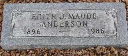 ANDERSON, EDITH J. MAUDE - Clay County, South Dakota | EDITH J. MAUDE ANDERSON - South Dakota Gravestone Photos
