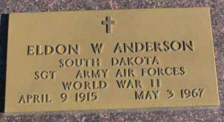 ANDERSON, ELDON W. - Clay County, South Dakota | ELDON W. ANDERSON - South Dakota Gravestone Photos