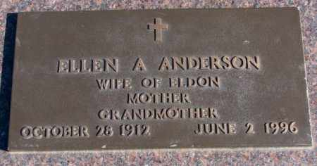 ANDERSON, ELLEN A. - Clay County, South Dakota | ELLEN A. ANDERSON - South Dakota Gravestone Photos