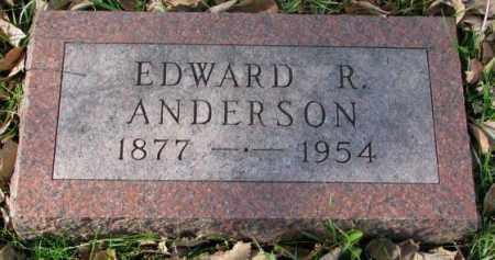 ANDERSON, EDWARD R. - Clay County, South Dakota   EDWARD R. ANDERSON - South Dakota Gravestone Photos