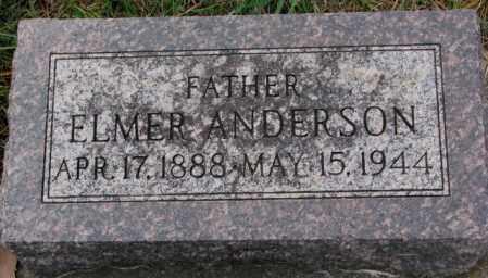 ANDERSON, ELMER - Clay County, South Dakota | ELMER ANDERSON - South Dakota Gravestone Photos