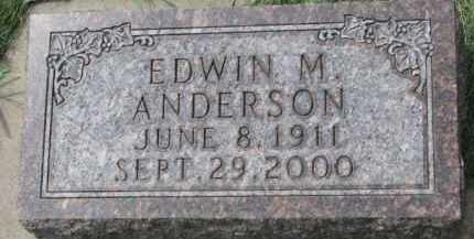 ANDERSON, EDWIN M. - Clay County, South Dakota   EDWIN M. ANDERSON - South Dakota Gravestone Photos